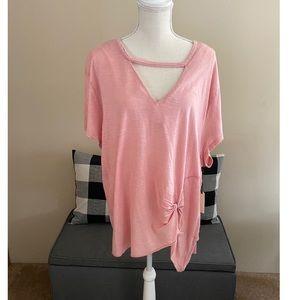 NWT Vanilla Star Pink Top Size 3X